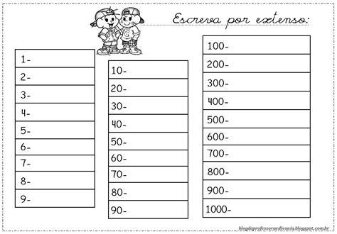 como decorar os numeros em ingles n 218 meros para escrever por extenso atividades para imprimir