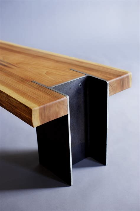 steel and wood bench 10 unique pairings of materials revolving around wood