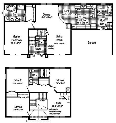 two story mobile home floor plans carlisle 2 story modular home floor plan