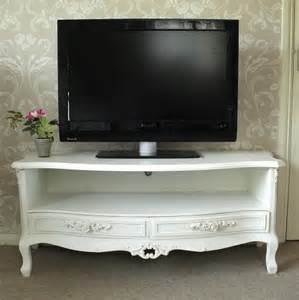 ivory cream two drawer tv cabinet rose unit dvd television stand shabby chic