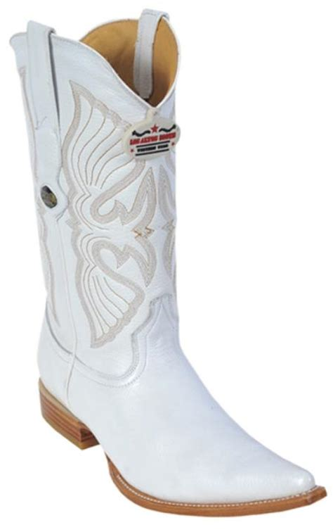 mens white boots leather deer leather white los altos mens cowboy boots western fashi