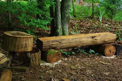 log benches how to build white oak log bench planed with a router took me about 5