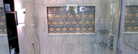 stone mosaic half bath in meridian kessler wrightworks llc jack and jill carerra marble bath wrightworks llc