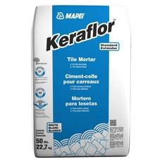 mapei keraflor white floor tile thin set mortar 50 lbs