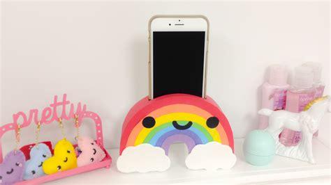 Easy Room Decor Diy Rainbow Phone Holder Easy Room Decor Ideas