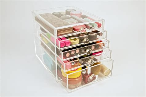 acrylic makeup organizer 5 drawer cube