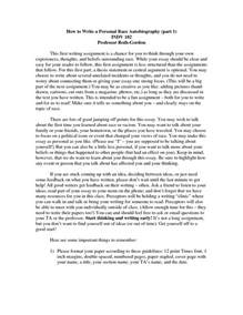 Sample Autobiography Essay Best Photos Of Personal Autobiography Essay Personal