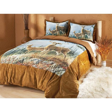 Feather Comforter Sets by Hautman 174 Whitetails Feather Ultra Suede Comforter Set