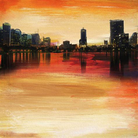 painting companies in orlando orlando city skyline painting by corporate art task force