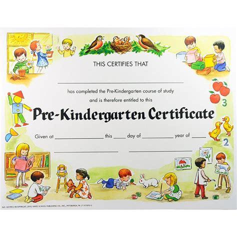 Pre K Certificates Printable end of pre k on award certificates preschool