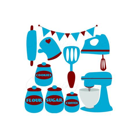 Vintage Kitchen Clipart by Items Similar To Digital Retro Kitchen Clipart Clip