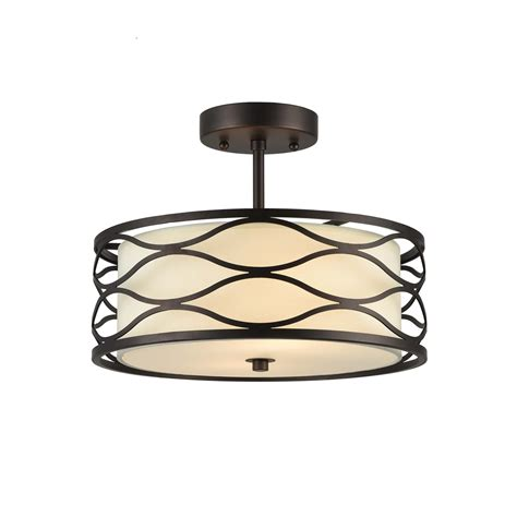 rubbed bronze semi flush ceiling light lighting inc lighting gwen transitional