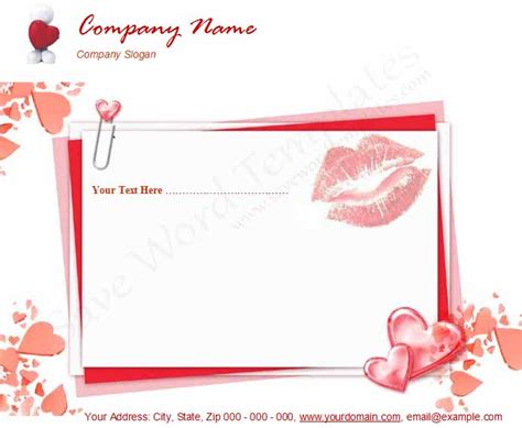 templates for word love photo free letterhead template word images