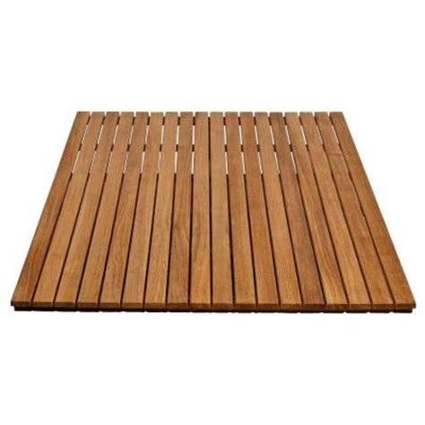 Teak Shower Mat by Arb Teak Specialties 36 In X 48 In Bathroom Shower Mat