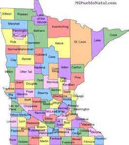 What County Is Mn In Minnesota County Map