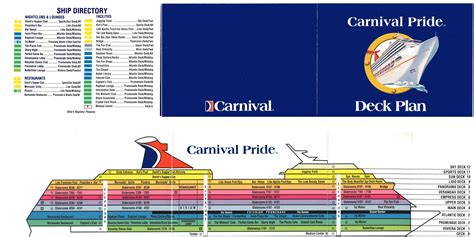 carnival pride floor plan carnival pride photo gallery 3