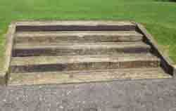 How To Build Garden Steps With Railway Sleepers by Creating Steps Using Sleepers Railway Sleeper Steps