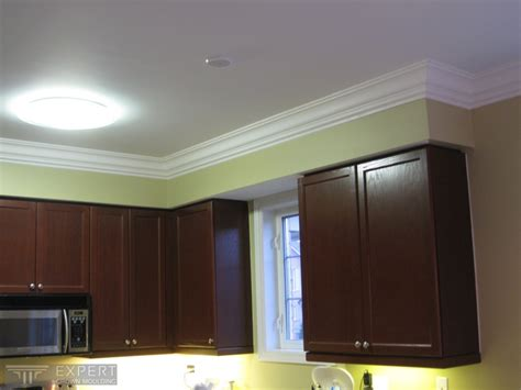 sophisticated crown moulding with dentil in kitchen crown moulding looks great above kitchen cabinets by