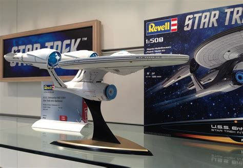 starship enterprise model with lights the trek collective first look at revell s new uss