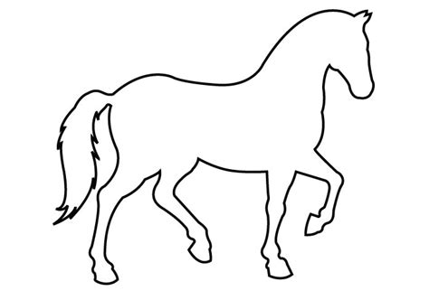 simple outline horse clipart best