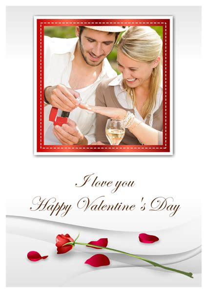 Valentines Card Publisher Template by Card Templates Greeting Card Builder