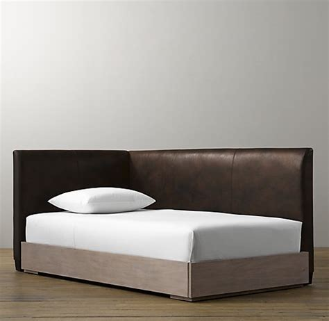 corner platform bed parker leather corner bed with platform