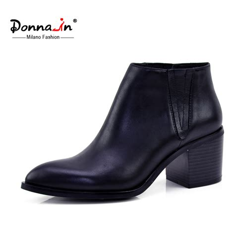 donna in 2016 single boots pointed toe thick heel