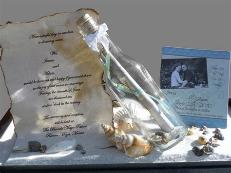 Message In A Bottle Wedding Invitations