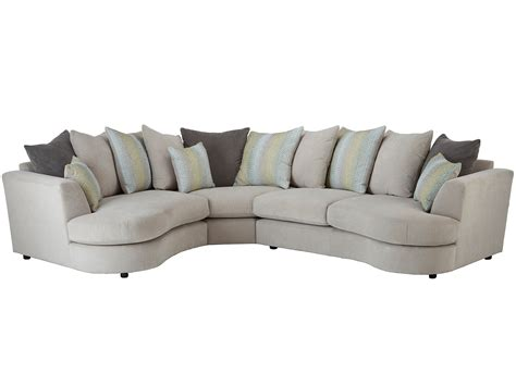 murray curved corner sofa left facing in graceland silver