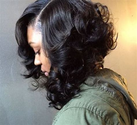 black hair sewins transitioning with a sew in short hairstyle 2013
