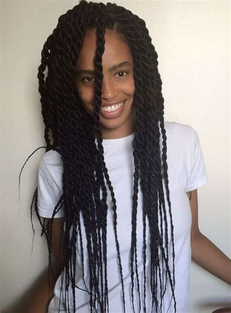nubian hair long single plaits with shaved hair on sides 50 thrilling twist braid styles to try this season