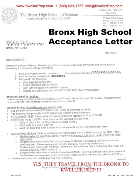 manhattan college acceptance letter kweller prep nyc middle school high school and college success specialized high school