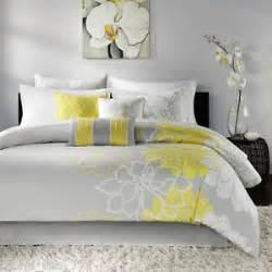 Lemon Duvet Cover Set New 7 Piece King Comforter Set Yellow Floral Gray White