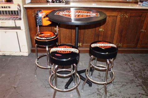 harley davidson table and bar stools harley davidson bar