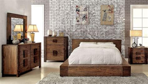 Rustic Contemporary Bedroom Furniture | bambi modern rustic bedroom furniture