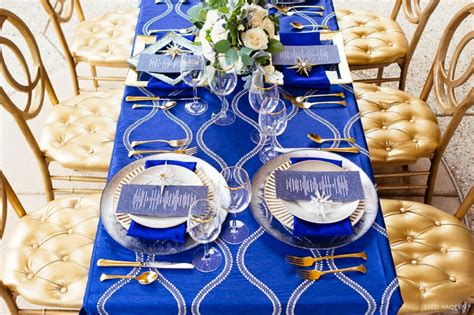 blue gold celestial inspired wedding ideas every last detail
