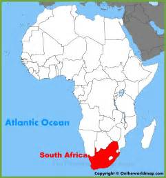 south africa location on the africa map