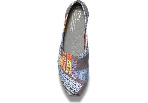 periodic table of elements toms lyst toms periodic table womens vegan classics