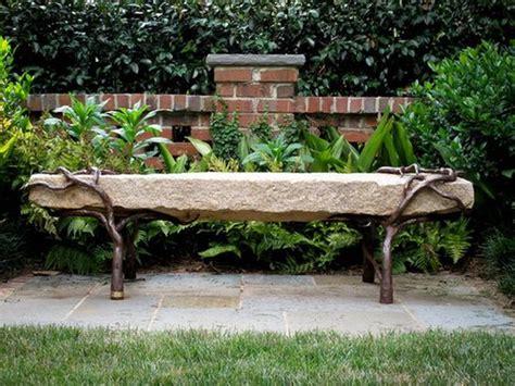 google bench natural stone ideas for unique garden bench garden art