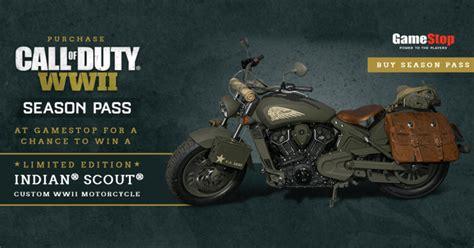 Gamestop Sweepstakes - gamestop call of duty ww2 indian motorcycle sweepstakes winzily