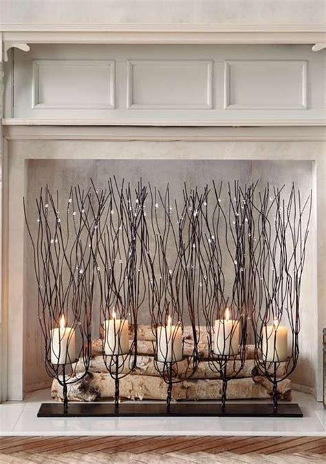candle fireplace insert 20 romantic fireplace candle ideas home design and interior