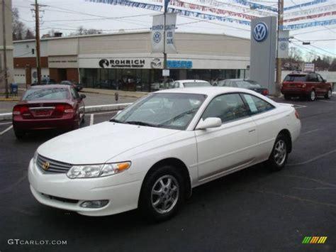 2002 Toyota Solara 2002 White Pearl Toyota Solara Se Coupe 25062442