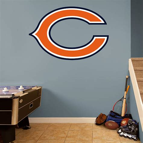 chicago bears quot c quot logo fathead wall decal
