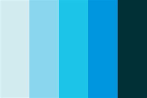 blue color palette fading blue color palette