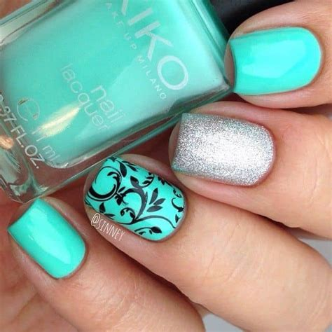 Mint Green Nail Polishes by 20 Mesmerising Mint Green Nails For Refreshing Look