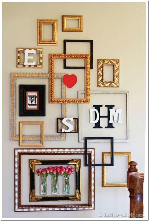 empty frames wall decor flowers diy