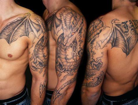 tattoo dragon arm left half sleeve dragon tattoo