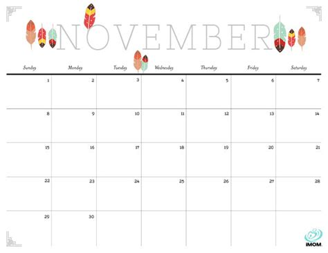cute november 2015 calendar printable november 2015 calendar thanksgiving image king