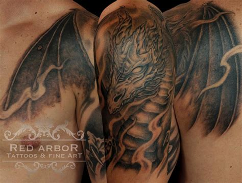 mythical tattoos black and gray mythical by claussen tattoonow