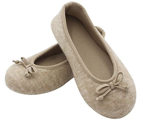 memory foam house slippers hometop women s elegant cashmere knitted memory foam indoor ballerina house slippers